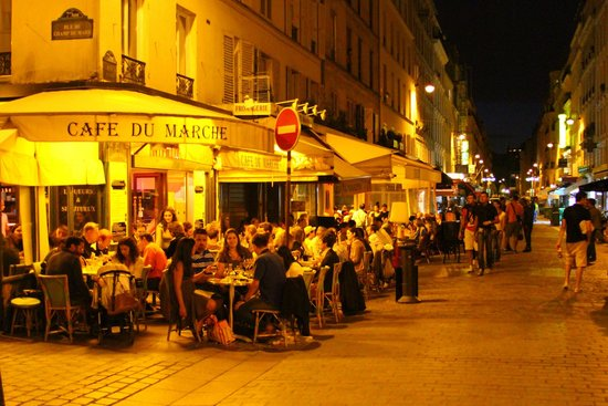 During warm weather every night looks like this at cafe du marche picture - Le marche du spa en france ...