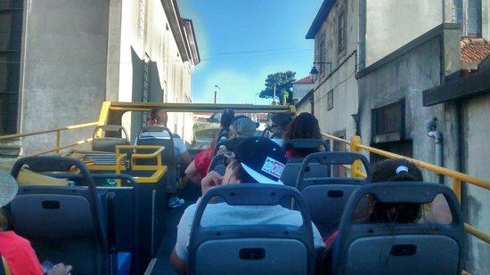 Yellow Bus Tours Oporto : Vista de cima do ônibus