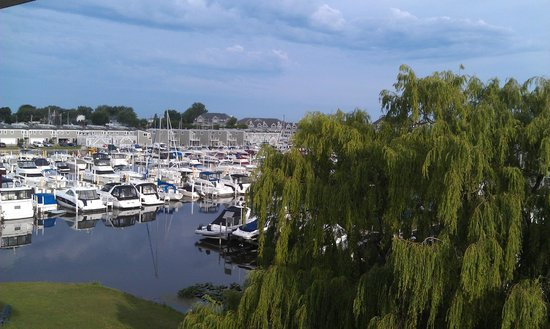The Harbor Grand: View of the marina from my room