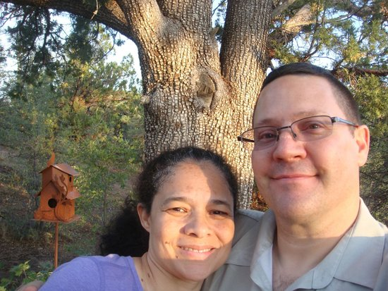 Whispering Pines Bed and Breakfast: My Wife and I by the Crocodile tree