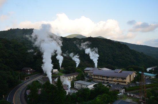 Kirishima Kokusai Hotel: 湯けむりの景色