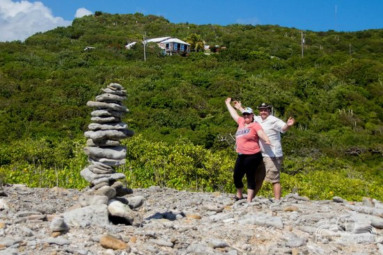 Virgin Islands Campground: Giant Cairn on the Beach