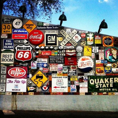 Route 66 Malt Shop : Outside in the parking lot.
