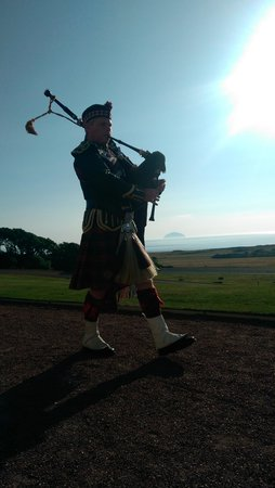 Trump Turnberry, A Luxury Collection Resort, Scotland: A piper outside the hotel