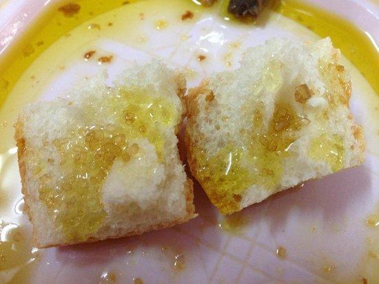 Olive Oil Tour: Orange infused olive oil with brown sugar. Mmmmm