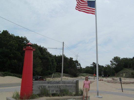 Pere Marquette Park: Name Marker