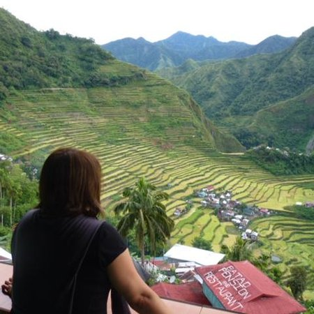 Uncharted Philippines Adventure Travel and Day Tours: View of Batad Terraces from our inn's balcony