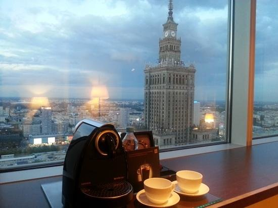 InterContinental Hotel Warsaw : The view from room 2908