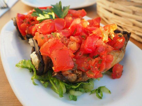 Karina All day Taverna: aubergine with tomatoes