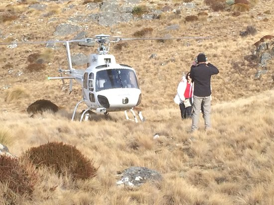 Heliworks Queenstown Helicopter Flights: The pilot taking photos - he was juggling 3 cameras once