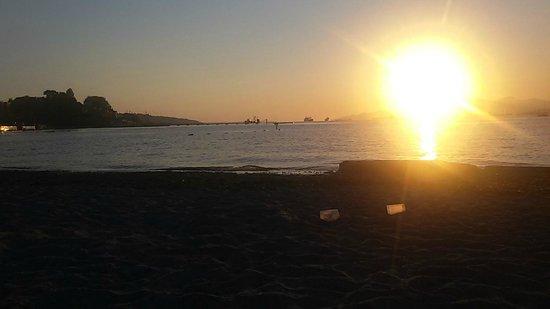 Kitsilano Beach: Por do Sol simplesmente espetacular.