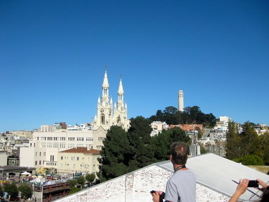 North Beach: The Cathedral of Sts. Peter & Paul beneath Coit Tower