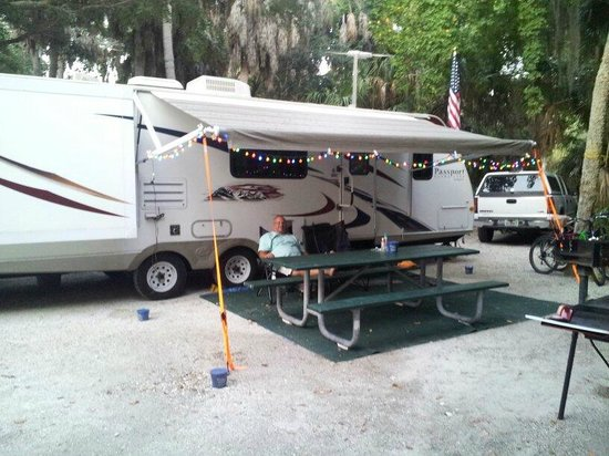 Fort de Soto Park Campground : At our campsite