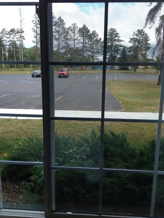Flat Creek Inn & Suites: view from a first floor room -- not great at eye level...