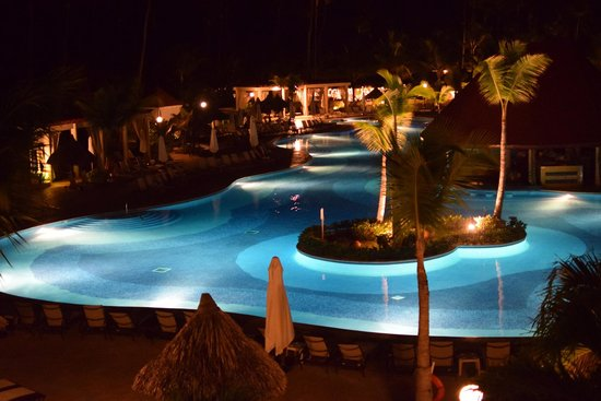 Luxury Bahia Principe Ambar Blue Don Pablo Collection: View at night from room 67301