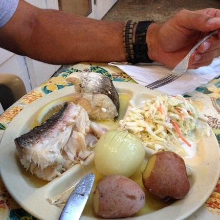 Fish boil after cooked picture of pelletier 39 s restaurant for Fish boil door county