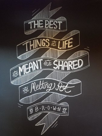 Melting Pot Bar & Bistro: The best things in life are meant to be shared