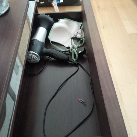 Point West Apartments by Crown Lawn: Someone's bra left in the drawer...