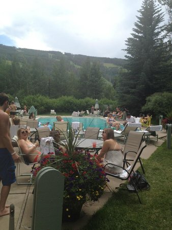 Evergreen Lodge: at the pool during Sunday pool party