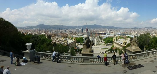 Plaza de España (Plaça d'Espanya): Views from the top