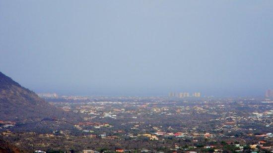Parque Nacional de Arikok: View of Palm Beach resorts from mountaintop