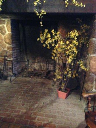 The Historic Smithville Inn : 6ft high hearth in the lobby