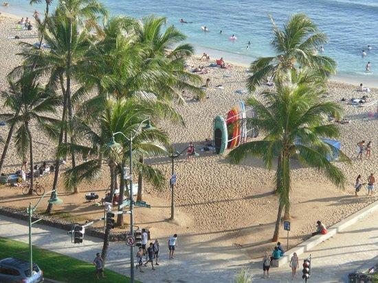 Park Shore Waikiki: view straight onto Waikiki