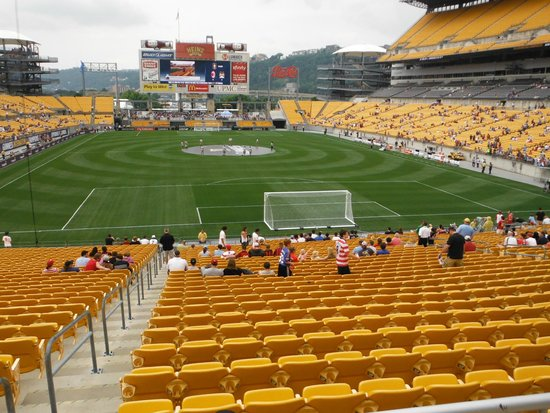 Heinz Field : View from behind the goal - North end