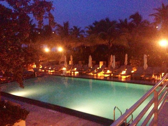 Royal Palm South Beach Miami, A Tribute Portfolio Resort : The downstairs pool at night