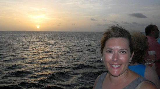 De Palm Tours: Sunset (and my beautiful wife!)