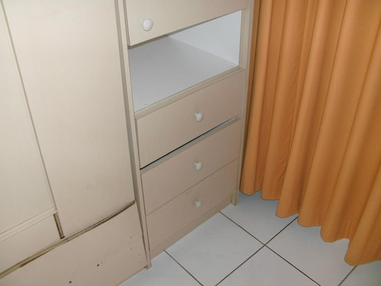 Ramada Plaza Marco Polo Beach Resort: MISSING DRAWERS