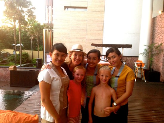 Anantara Seminyak Bali Resort: We made great friends with the staff - best hotel staff I have ever met, best staff there is, fi