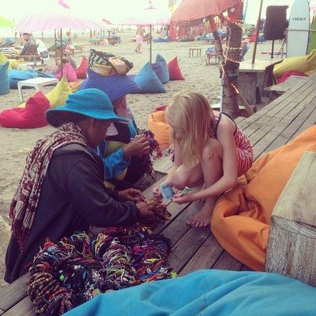 Anantara Seminyak Bali Resort: Buy sarongs and other merchandise from the locals