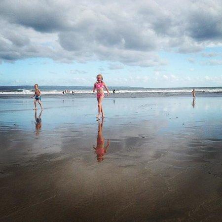 Anantara Seminyak Bali Resort: Our kids playing at the beach