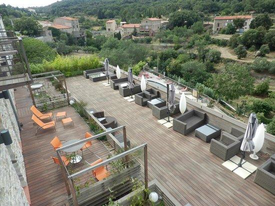 Riberach Hotel Cave-Restaurant: vue de la chambre