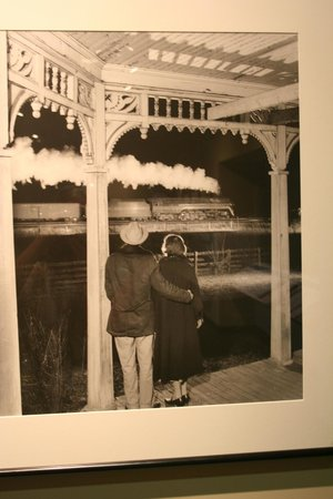 "O. Winston Link Museum: ""Mr. and Mrs. Benjamin Franklin Pope Watch the Last Steam Powered Passenger Train Pass Their Hom"