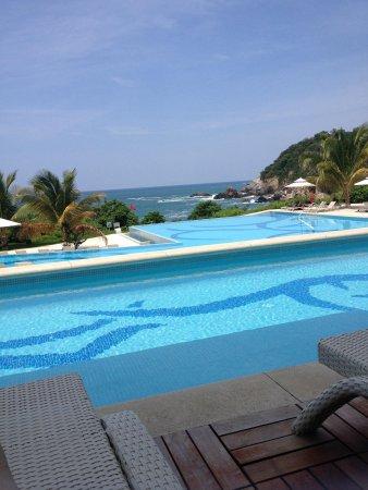 Secrets Huatulco Resort & Spa : View sitting outside room 5107