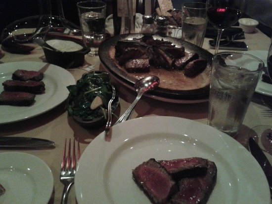 Club A Steakhouse : Porterhouse, very tender steak