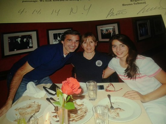 Club A Steakhouse: nos regalaron la foto de nuestra cena en Club A