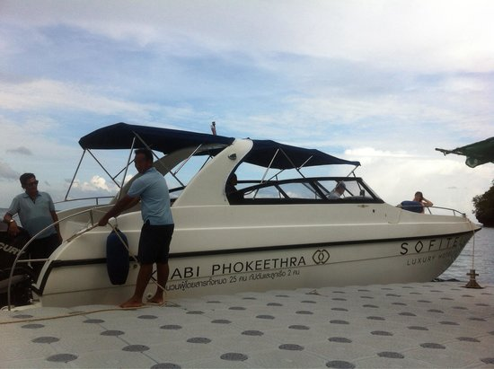 Sofitel Krabi Phokeethra Golf & Spa Resort : Hotel's speed boat
