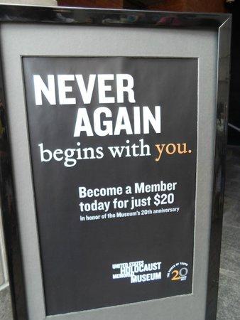 Museo Memorial del Holocausto de Estados Unidos: Museu holocausto