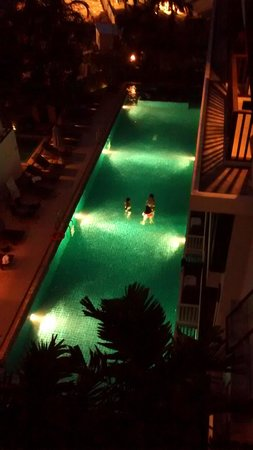 Apasari Krabi: view from my room at night