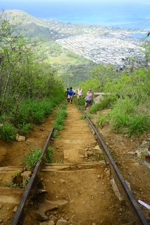 Koko Crater Trail: the photos don't do justice to this climb