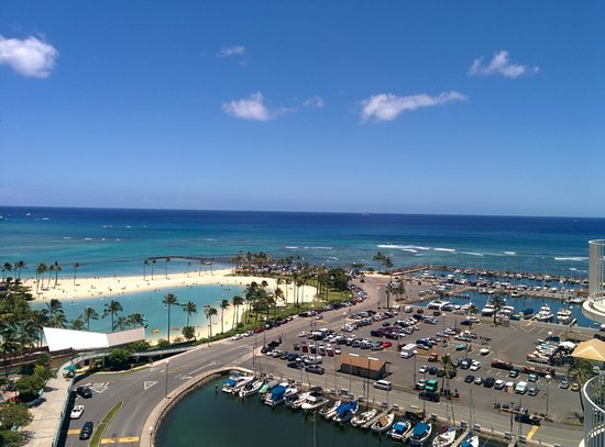 The Modern Honolulu: View from 16th floor balcony, Ocean View King room