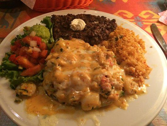 Rosalita's Tex Mex Grill: Seafood stuffed poblano