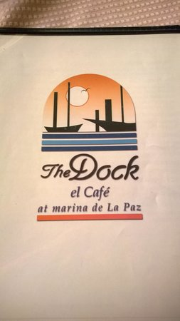 The Dock Cafe: The menu cover