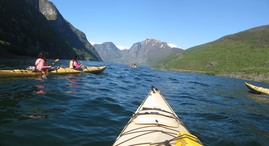 Njord - Seakayak and Wilderness Adventure Day Tours : On the fjord