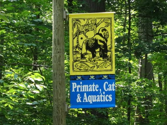 Cleveland Metroparks Zoo: Primate, Cat & Aquatics sign