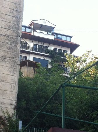 Villa Rustica : We had the middle (2nd floor) right end room - closest to town so you got views over the lake an