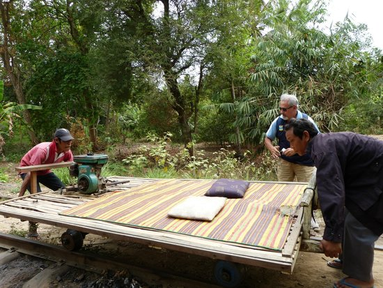 Bamboo Train: Getting ready to go